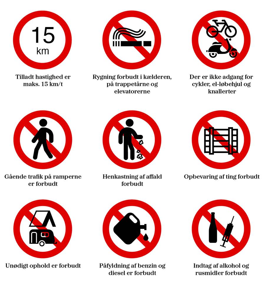 Ordensregler i P-kælder (opdateret den 29. juni 2020)